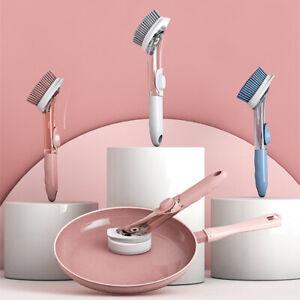 Automatic liquid addition dish washing brush With handle kitchen brush cleaning