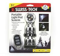 NEW Swiss+Tech Portable LED Light Pod System, 3-Pack with Remote-Camping,Hunting