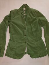 J Crew Corduroy Jacket Fitted Blazer Women's Size Tall Medium Green Lined Pocket
