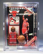Michael Jordan Custom Mini Action Figure w Case & Lego Stand 427 for minifigure