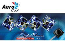 14cm AEROCOOL PC Case Fan Light Wave  3 mode option  ***BRAND NEW***
