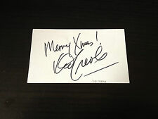 KID CREOLE - CHART TOPPING SINGER - SIGNED WHITE CARD