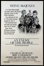 AN ENEMY OF THE PEOPLE STEVE MCQUEEN RARE 1977 1-SHEET