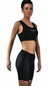 Women's Cycling Shorts in BLACK. Sbaren by Etxeondo in Spain