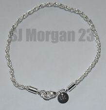 Hallmarked Sterling Silver 925 Rope Design Bracelet. UK