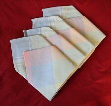 Set of 4 Hand-Made Napkins. Pastels, Unused.