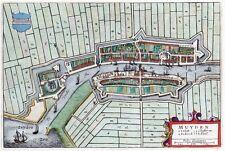 Reproduction plan ancien de Muiden 1649
