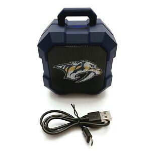 NHL Nashville Predators ShockBox Bluetooth Wireless Speaker with LED Lights GUC