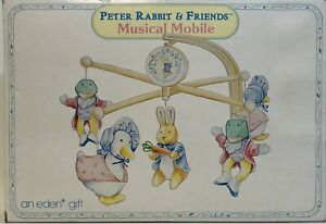 Beatrix Potter PETER RABBIT and Friends Musical Crib Mobile Original Box EUC