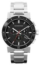 Burberry BU9380 Black Dial Chronograph Silver Stainless Steel 42mm Men's Watch