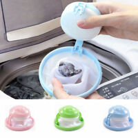 Home Floating Lint Hair Catcher Mesh Pouch Washing Machine Laundry Filter Bag JT