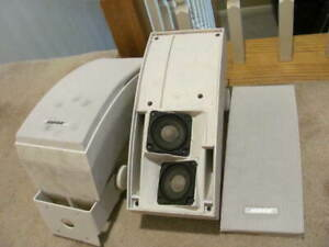 PAIR OF Bose 251 Outdoor Environmental Speakers - White--DIRTY PLEASE READ