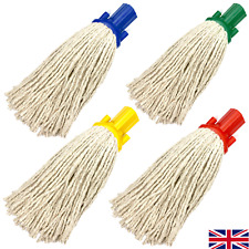 Cotton Mop Heads Replacement Colour Coded Floor Screw On Heavy Duty Socket Head