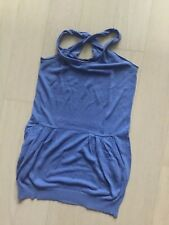 BCBGMAXAZRIA DRESS COVER UP BLUE LINEN SIZE XS