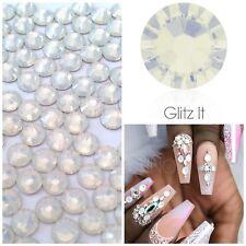 Swarovski x 50 MIXED SIZE White Opal GLUE ON Crystals Rhinestones Nail Art