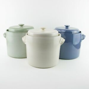 2L Handmade Ceramic Fermentation Crock / Pot with Weight Stones for Sauerkraut
