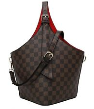 Designer Inspired Checker Board Top handled bag with red lining (Various colours