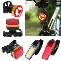 COB LED Bicycle Bike Cycling Front Rear Tail Light USB Rechargeable Safety Lamp