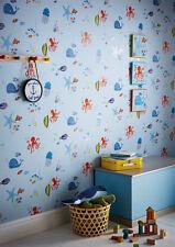Underwater Fun Blue Kids Boys Feature Wall Bedroom Wallpaper 10m 696202