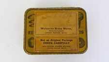 Vintage Wolverine Brass Works Tin
