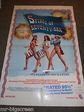 SPIRIT OF SEVENTY SEX - ORIGINAL FOLDED POSTER -1976 - JOHN HOLMES/ANNETTE HAVEN