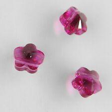 5744 8 F *** 6 perles-fleur de Swarovski réf. 5744 8mm FUCHSIA