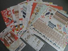 Paper House: Scrap booking kit - One Big Happy Family: Papers, stickers etc
