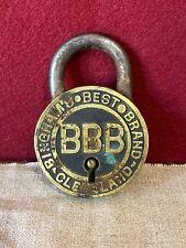 Rare Antique Bingham's Best Padlock, Cleveland.
