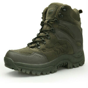 Mens Outdoor Hiking Boots Military Tactical Combat Anti-collision Trekking Boots