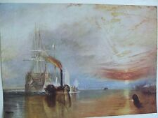 ANTIQUE PRINT C1930S THE FIGHTING TEMERAIRE BY JOSEPH MALLORD WILLIAM TURNER