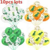 "10pc 12"" Dinosaur Latex Confetti Balloons Party Birthday Party Balloons Decor"