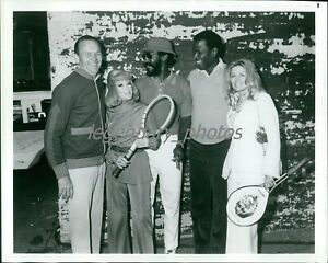 1960s Jack Kramer Tennis With Bill Cosby Sid Poitier Original News Service Photo