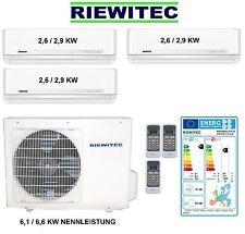 Triple MultiSplit (3 x 2,6 KW) RIEWITEC Inverter Klimaanlage 6,1/6,6 KW, A++/A+
