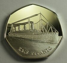 RMS TITANIC Silver Commemorative Coin Albums/50p Collectors. White Star Line