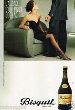 Publicité advertising 1985 Cognac Fine Champagne Bisquit