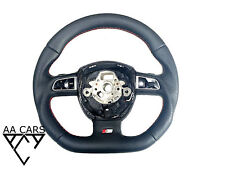Steering Wheel AUDI A4 B7 S4 RS4 A4 B8 S6 SLINE Flat Bottom extra THICK Paddles