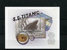 Gambia 1998 MNH Titanic 1v S/S II Ships Boats White Star Line