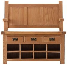 OAK MONKS BENCH, 110cm, 45cm, 100cm - FREE DELIVERY