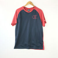 Vintage Champion red and navy T-shirt with netting on top