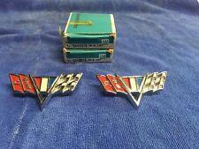 """GM 3840318 1965-67 Chevy, Chevelle, Camaro (all V8) V Emblems (2) """"NOS"""""""