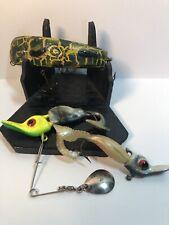 Vintage Lot Of Very Old Flatfish Bait Cast Lures