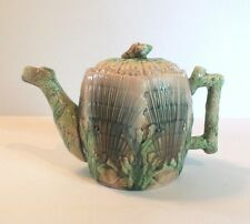 "19th C. GRIFFIN, SMITH & HILL ETRUSCAN MAJOLICA ""SHELL & SEAWEED"" COFFEE POT"
