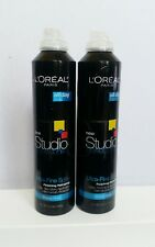 Lot of 2 L'Oréal Studio Perfect Fix Ultra Fine Spray Finishing Hairspray Strong