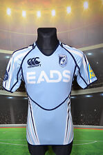 CARDIFF BLUES CANTERBURY WELSH RUGBY UNION SHIRT (L) JERSEY TOP TRIKOT TIGHT