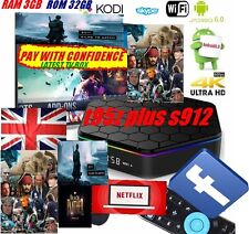 T95Z Plus S912 3GB+32GB Octa Core Android 6.0 TV Box Kodi 17 2.4/5 GHz dual de WiFi