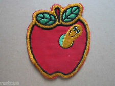 Apple Worm Woven Cloth Patch Badge