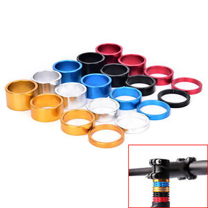 4x Bicycle Headset Spacer   Road Bike Headset Washer Front Stem Fork Spacery ^lk