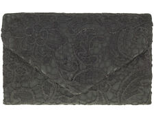 BLACK LACE CHRISTMAS PROMS WEDDING LADIES NIGHT OUT OCCASIONAL CLUTCH BAG