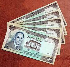 MAROC - 100 DIRHAMS (1985) - Billet de banque très bon état morocco