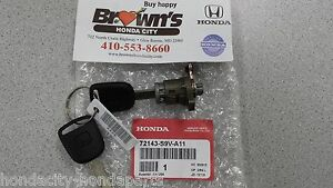 NEW GENUINE HONDA PILOT RIGHT FRONT DOOR LOCK CYLINDER W / KEY 72143-S9V-A11
